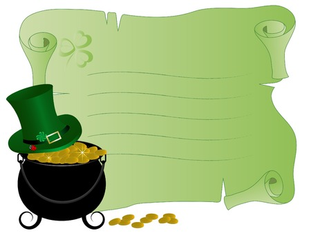Parchment with St.Patricks day icons Vector