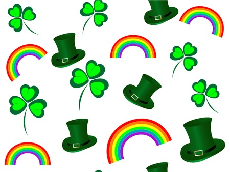 Seamless pattern with St.Patrick's day icons Stock Vector - 8838722