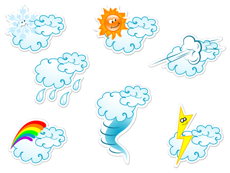 stormcloud: Collection of weather icons stickers