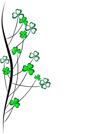 fortune graphics: Abstract clover grass - vector illustration