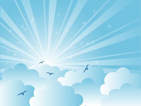 fantasize: Abstracto cielo azul con nubes