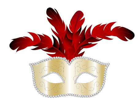 facemask: Carnival facemask on white background