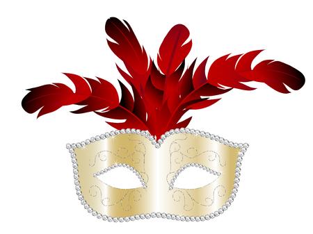 Karneval Facemask auf weißem Hintergrund
