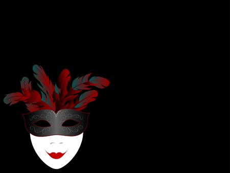 facemask: Carnival facemask on black background