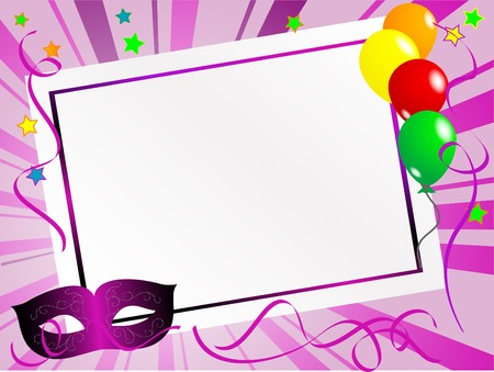 Party background with carnival mask Vector