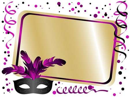 feathered: Party background with carnival mask