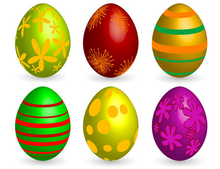 Coloured Easter eggs - vector illustration Vector