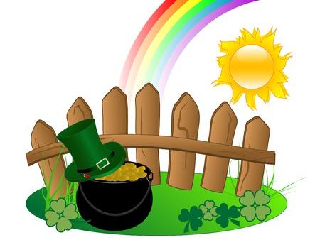 St.Patrick's cauldron with golden money Stock Vector - 9104095