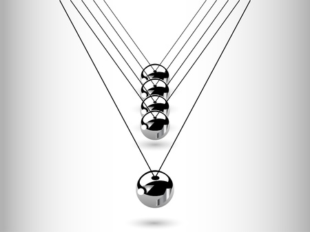 Hanging silver balls - vector illustration