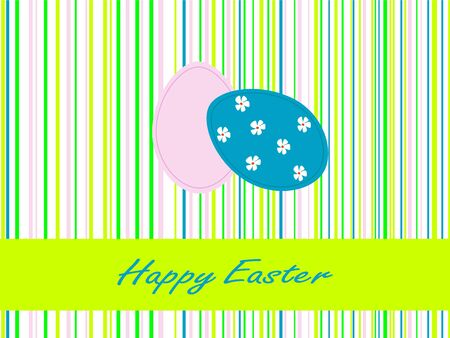 Stripped Easter background with two eggs Vector