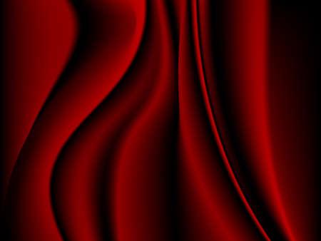 Fondo de satén rojo - ilustración vectorial