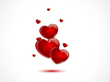Abstract concept with red hearts Vector