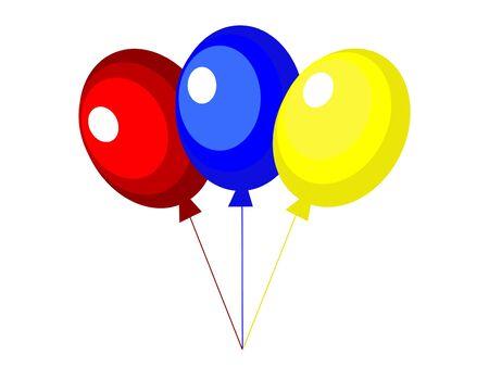 globos de fiesta: Partido tres globos - ilustraci�n