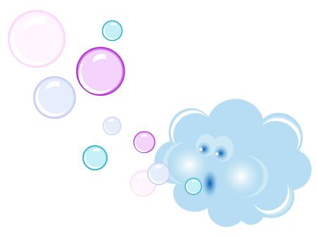 stormcloud: Abstract blue cloud with bubbles