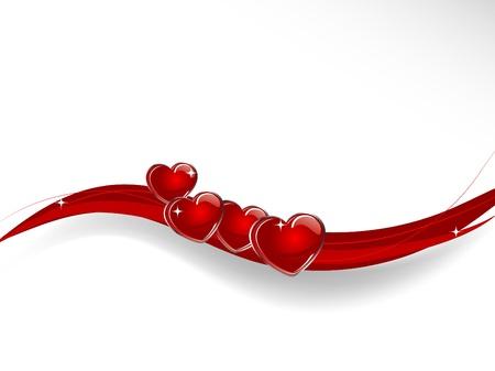 Fondo abstracto con corazones rojos Foto de archivo - 10240293