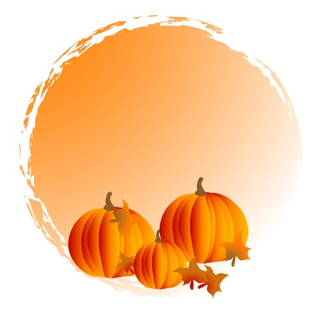 Abstract frame with orange pumpkins Stock Vector - 10394480