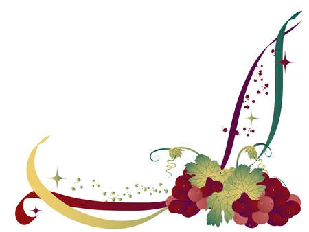 Abstract background with the grapes Stock Vector - 10417071