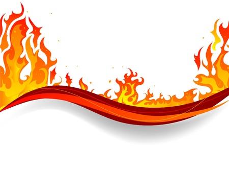 infierno: Fondo de fuego y llamas Vectores