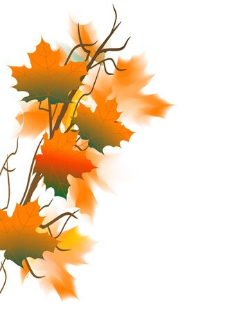 fall border: Abstract background with autumn leaves