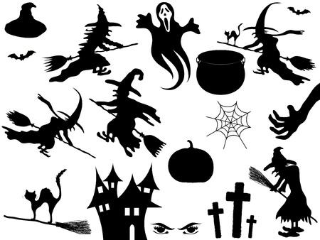 spinnennetz: F�r Halloween-Elemente Illustration