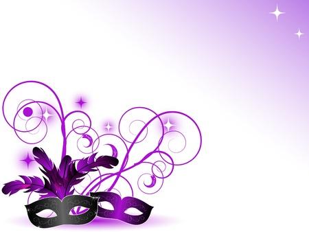 maski: Karnawał maski na białym tle Ilustracja