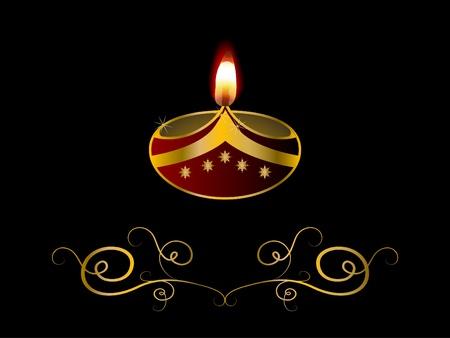 lampara magica: Día de la Independencia de fondo negro con lámpara