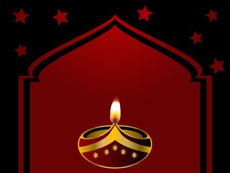 lampara magica: Día de la Independencia de fondo negro con la lámpara y la mezquita