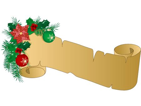 Christmas parchment with the garland Vector