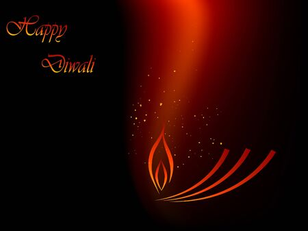 Abstract red and black Diwali background Vector