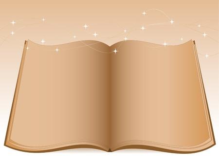 luces navidad: Libro abierto de edad y las luces de Navidad