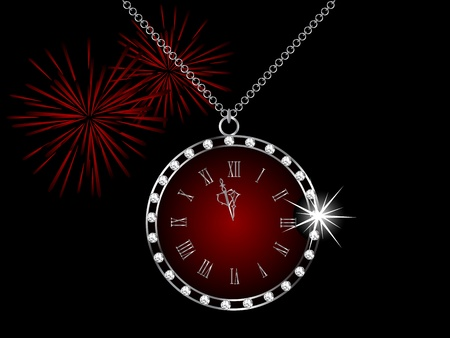 brilliancy: Diamond necklace with the clock