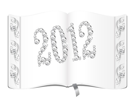 Blank book with number 2012 Vector