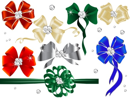 glittery: Collection of holidays bows and ribbons