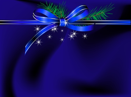 black satin: Abstract blue background with the ribbon Illustration