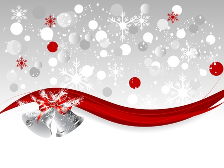 Abstract background with silver bells