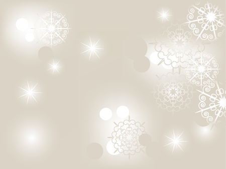 Abstract christmas background with snowflakes Illustration