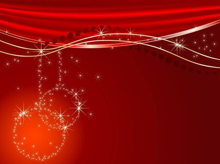 luminary: Abstract christmas background with balls