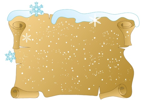 Winter scroll with the snowflakes Vector