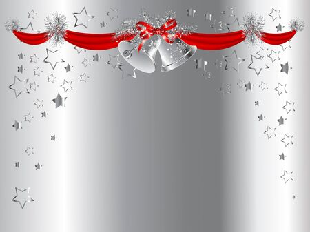Christmas garland with bells and stars Vector
