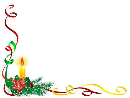 Christmas candlestick and the ribbons Vector