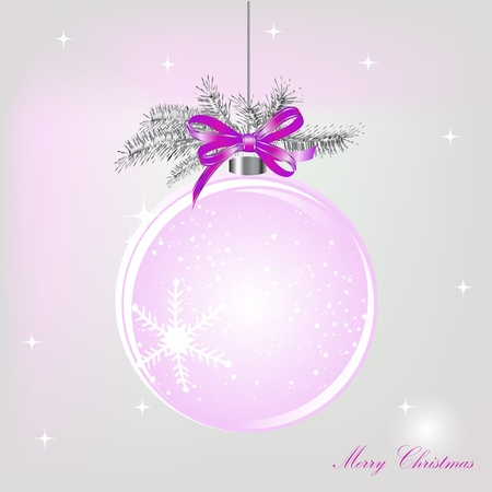 Empty snowglobe with silver bow Vector