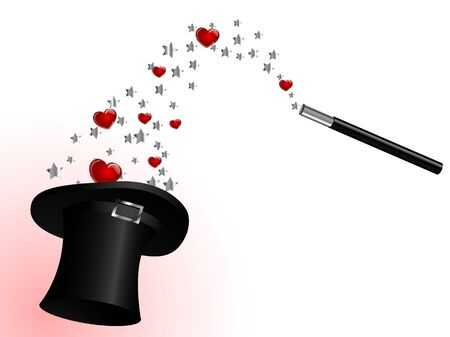 sparkler: Magic cylinder and red hearts