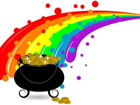 stpatrick: St.Patricks cauldron, money and rainbow