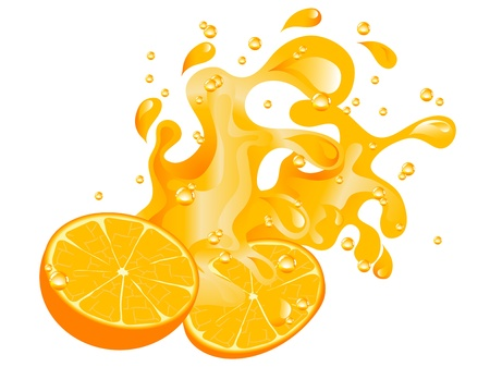 splash sinas: Sinaasappelen en jus d'orange splash