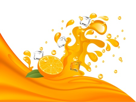 fresh juice: Orange and orange juice splash