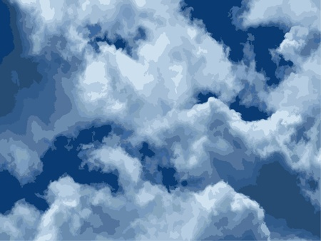 stormcloud: Blue summer sky with the white storm clouds