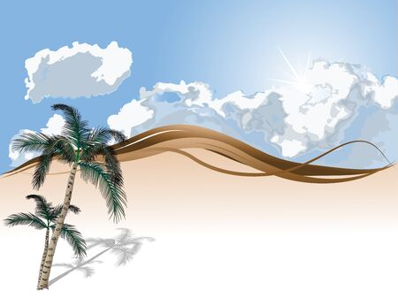 stormcloud: Abstract background with cloudy sky and palm trees