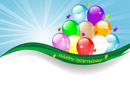 Colorful party balloons for your happy birthday Vector