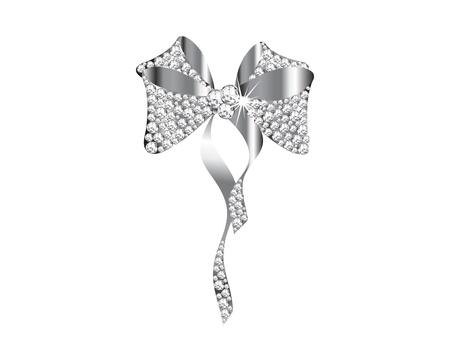 diamond jewelry: Arco d'argento con i diamanti