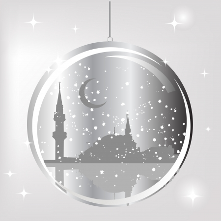 middleeast: Mosque in glass ball Illustration